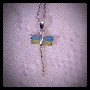 Jewelry - Sterling silver dragonfly necklace